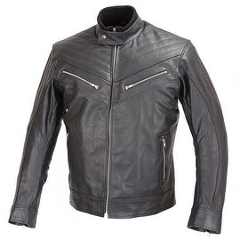 REBEL Men Motorcycle Biker Stylish Black Leather Jacket CE Rated Armor MBJ026