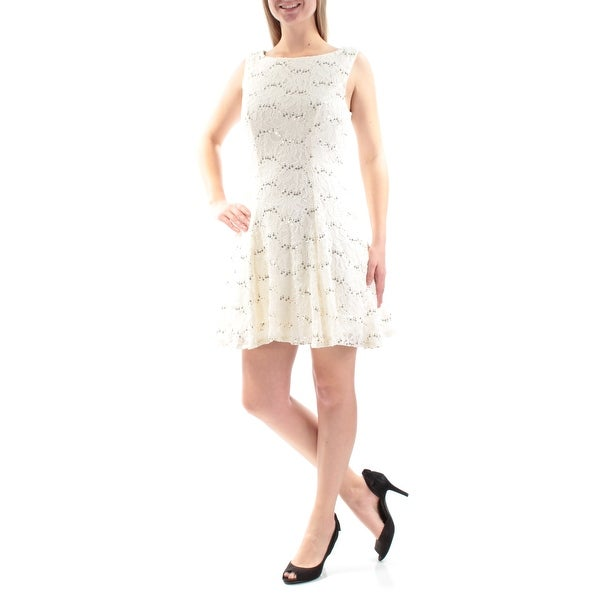 f7578011 Shop Womens Ivory Gold Sleeveless Mini Fit + Flare Party Dress Size: 9 -  Free Shipping On Orders Over $45 - Overstock - 22640138