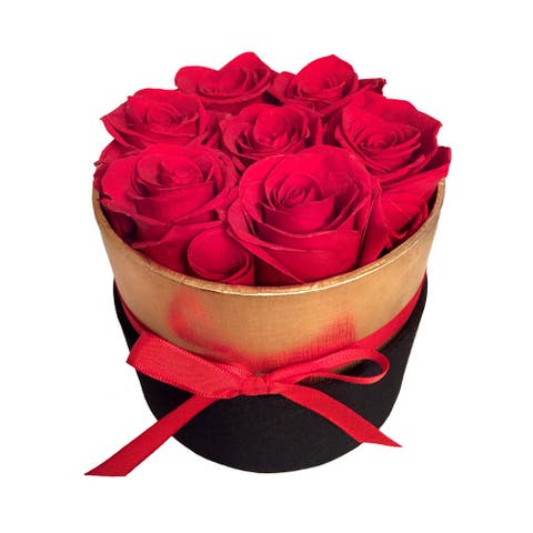 Real Preserved Roses In A Luxury Box, That Last A Year, Gift For Her