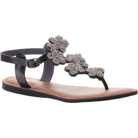 Madeline Women's Lust Thong Sandal Black Synthetic