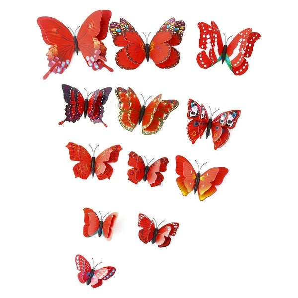 3D Butterfly Wall Sticker with Sticker Decal Fresco Sticker for Room Decoration