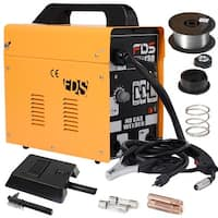 MIG 130 Welder Flux Core Wire Automatic Feed Welding Machine w/ Free Mask - yellow