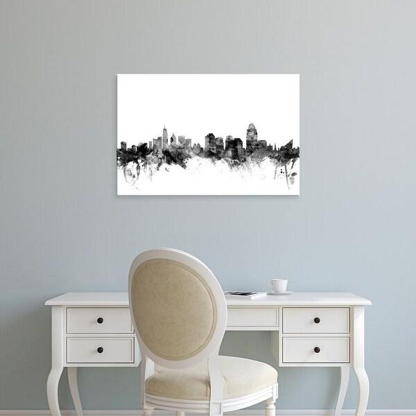 Easy Art Prints Michael Tompsett's 'Cincinnati Ohio Skyline' Premium Canvas Art