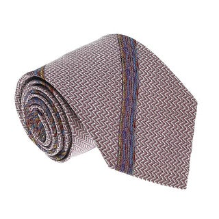 Missoni U3791 Pink/Silver chevron 100% Silk Tie - 60-3