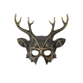 Pure Seasons Wicked Deer Head Mask (Gold) - gold