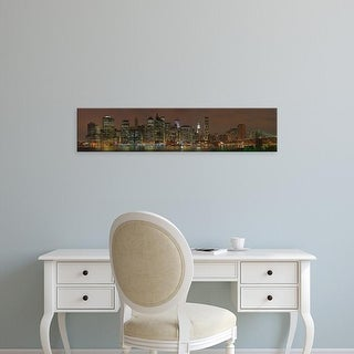 Easy Art Prints Panoramic Image 'Skyscrapers, Lower Manhattan, Manhattan, New York City, New York' Canvas Art
