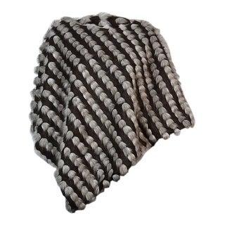 INC International Concepts Women's Striped Faux Fur Poncho (L/XL, Tufted Brown)
