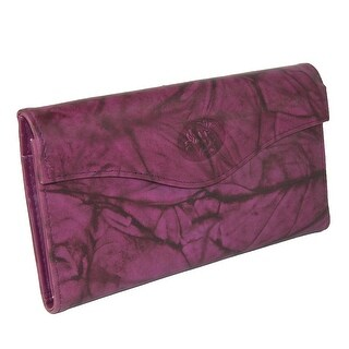 Buxton Women's Leather Long Bifold Organizer Wallet with Floral Emboss - One size