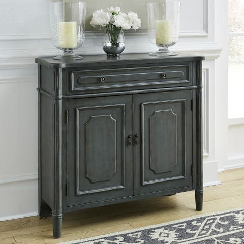 Amber Grey 1 Drawer and 2-door Accent Cabinet
