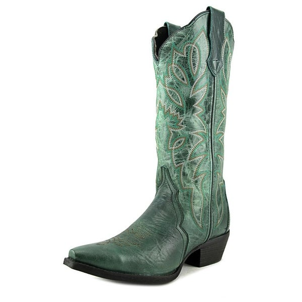 Laredo Lad 12 Triad Snip Women Pointed Toe Leather Green Western Boot