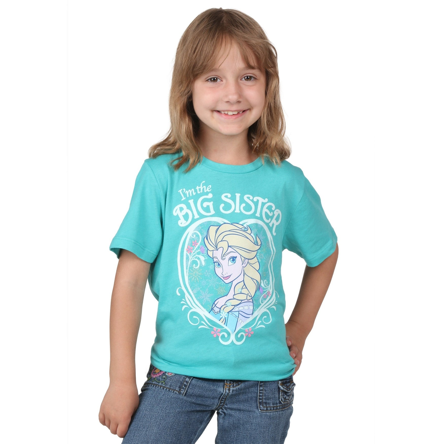 Disney Frozen Elsa Im The Big Sister Kids T-Shirt