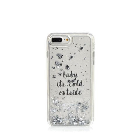 Kate Spade New York Baby It's Cold Outside Clear Liquid Glitter Case for iPhone 8 Plus/iPhone 7 Plus