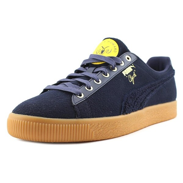 Puma Clyde Wool BHM Men Round Toe Synthetic Blue Sneakers