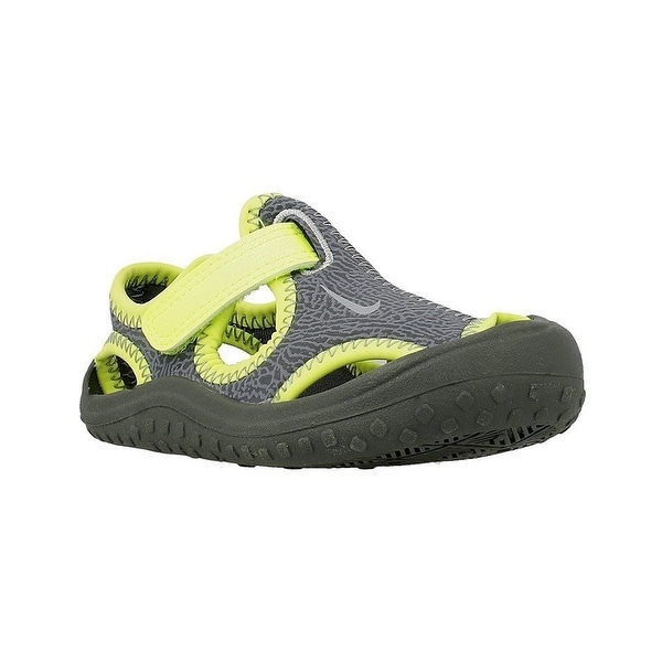 84c69a9d982e06 Nike Kids Sunray Protect Infant Toddler Dark Grey Wolf Grey Volt Boy