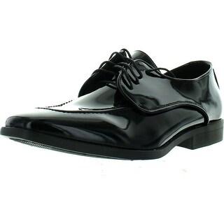 Bravo Men Tuxedo Shoe Tavis Dress Oxford Fashion Moc Square Toe Wrinkle Free