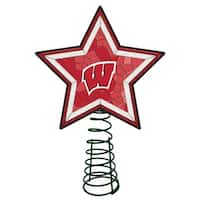 Wisconsin Badgers Mosaic Tree Topper