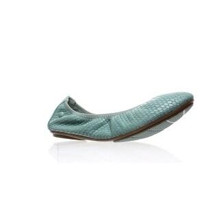 Hush Puppies Womens Chaste Ballet Blue Ballet Flats Size 6 (2E)