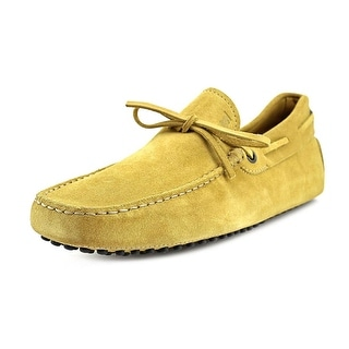 Tod's New Laccetto Occh. New Gommini 122 Men Suede Tan Moccasins