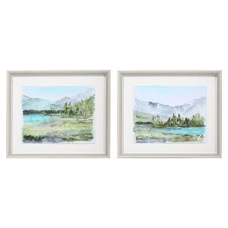 Link to Uttermost Plein Air Reservoir Watercolor Prints (Set of 2) Similar Items in Art Prints