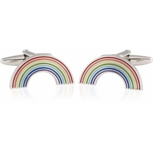 Rainbow Pot Of Gold Good Luck Cufflinks
