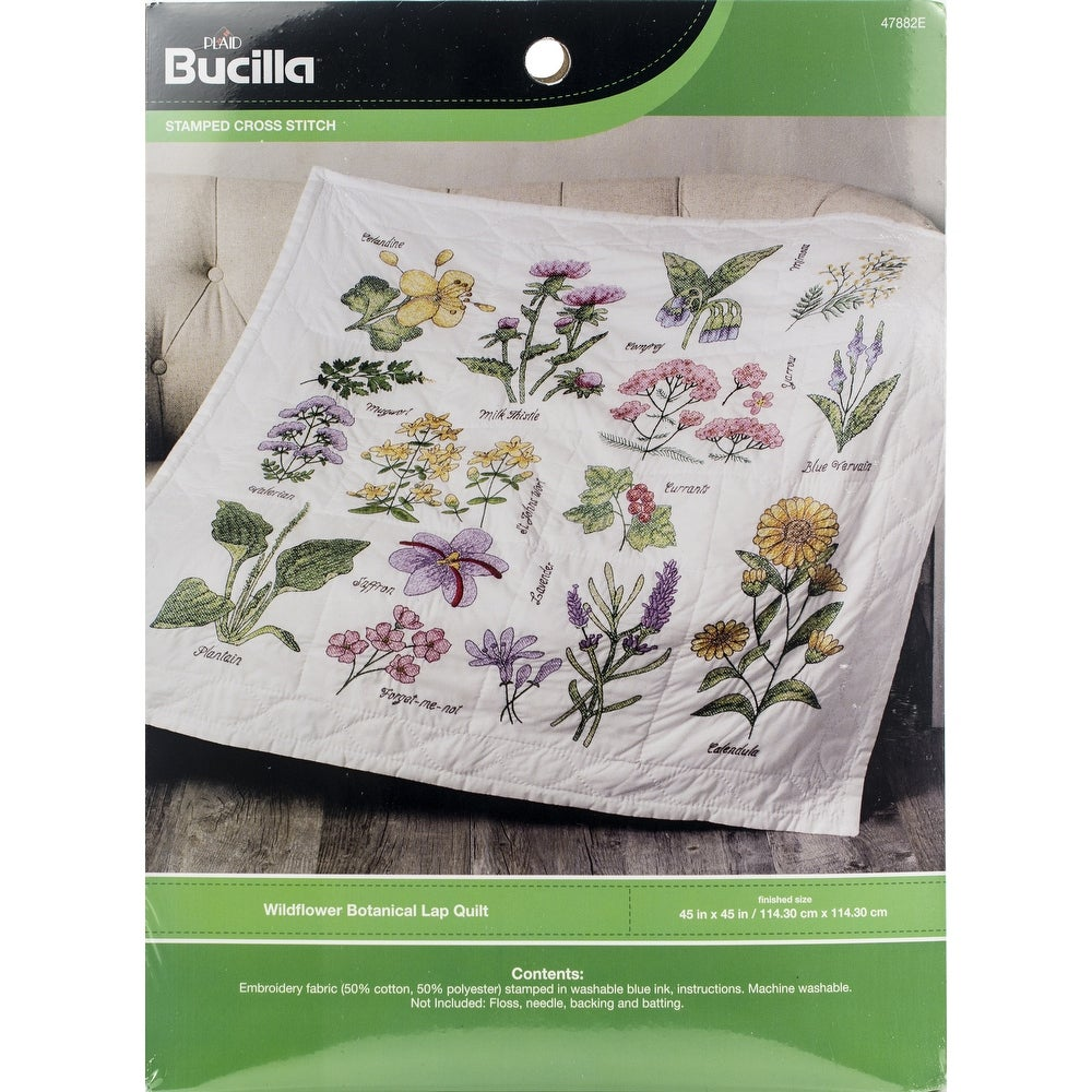 Bucilla Xpressions Floral Cross Stamped Cross Stitch Kit