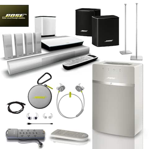 Bose SoundTouch 10 (White) + Citron SoundSports + 5 pc Acc Bundle