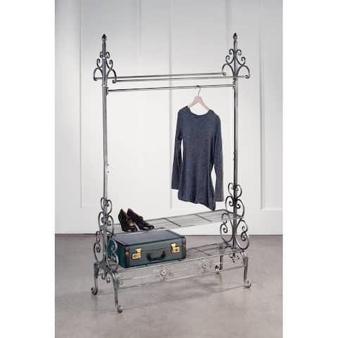 Gunmetal Garment Floor Rack