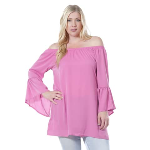 Women's Fashion Long Bell Sleeve Blouse (Small to 3XL Plus Sizes)