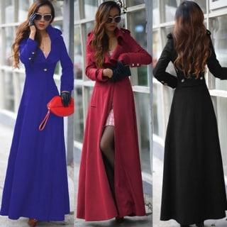 One Button Women's Woolen Cashmere Coat