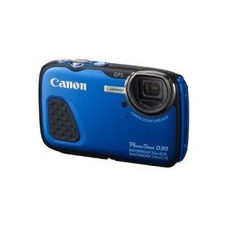 Canon PSD30BLUEB Canon PowerShot D30 Waterproof Digital Camera, Blue