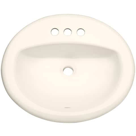 "PROFLO PF20174 20-1/2"" Self Rimming (Drop-In) Oval Bathroom Sink - 3"
