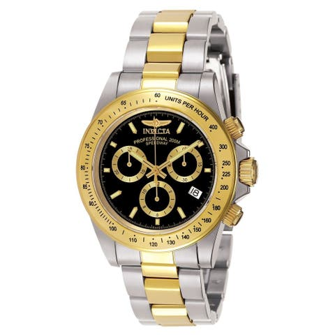 Invicta Men's 7028 'Signature' Gold-Tone and Silver Stainless Steel Watch