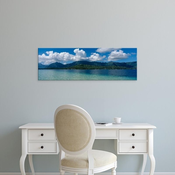 Easy Art Prints Panoramic Images's 'Clouds over an island, Hana, Maui, Hawaii, USA' Premium Canvas Art