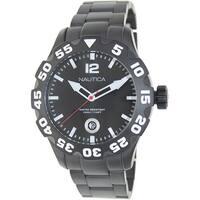 Nautica Men's Bfd 100 N20095G Black Stainless-Steel Quartz Fashion Watch