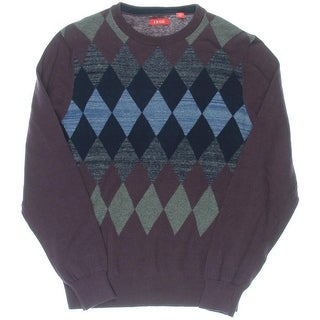 Izod Mens Argyle Knit Pullover Sweater
