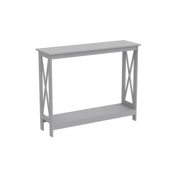 Console Table 39 5l Light Grey 1 Shelf 39 5 X 11 75 X 31 5 Overstock 31748737