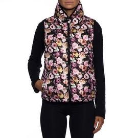 Betsey Johnson Reversible Floral Down Vest