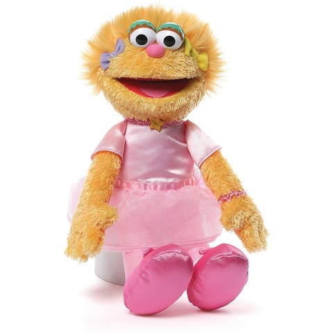 Gund Sesame Street Zoe Ballerina Stuffed Animal, 12 inches