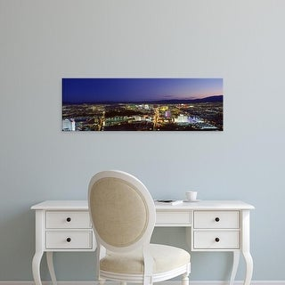 Easy Art Prints Panoramic Images's 'Cityscape at night, The Strip, Las Vegas, Nevada, USA' Premium Canvas Art