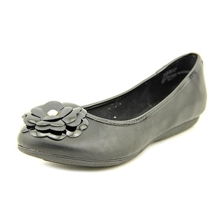 White Mountain Ian Women Round Toe Synthetic Black Flats