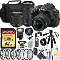 Nikon D3400 with 18-55mm Lens and 70-300mm Lens Pro Bundle Intl Model