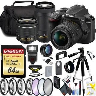 Nikon D3400 with 18-55mm Lens and 70-300mm Lens Pro Bundle Intl Model
