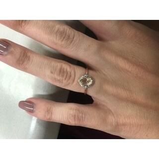 10k Rose Gold Morganite and Diamond Ring (G-H, I2-I3)