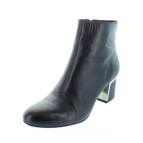 DKNY Womens Corrie Ankle Boots Solid Casual