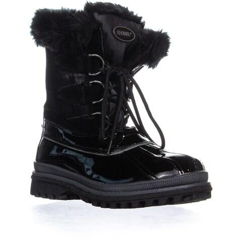 Khombu Believe Winter Boots, Black - 6 US