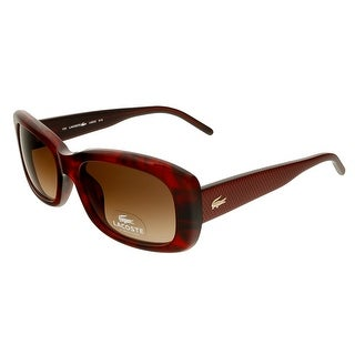 Lacoste L665S 615 Red Horn Rectangle Sunglasses - red horn - 52-17-135
