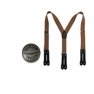 Welch Men's Elastic Button End Double Face Suspender with Bachelor Buttons - One Size