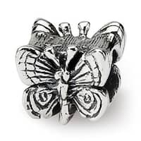Sterling Silver Reflections Kids Butterfly Bead (4mm Diameter Hole)