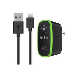 Belkin - Home Charger with Lightning Cable 2.1A for iPhone/iPad - Black