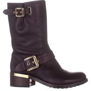 Link to Vince Camuto Womens Windy Leather Round Toe Mid-Calf Motorcycle Boots Similar Items in Suits & Suit Separates